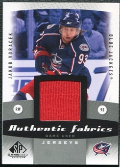 2010/11 Upper Deck SP Game Used Authentic Fabrics #AFVO Jakub Voracek