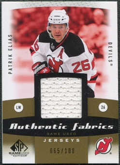 2010/11 Upper Deck SP Game Used Authentic Fabrics Gold #AFEL Patrik Elias /100