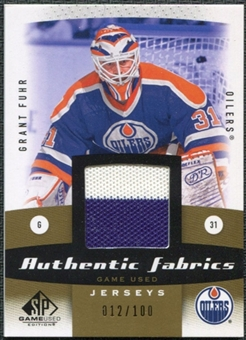 2010/11 Upper Deck SP Game Used Authentic Fabrics Gold #AFGF Grant Fuhr 12/100
