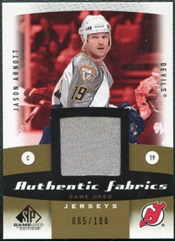 2010/11 Upper Deck SP Game Used Authentic Fabrics Gold #AFJA Jason Arnott /100