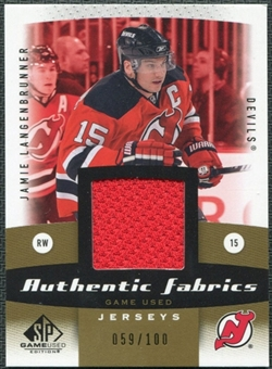 2010/11 Upper Deck SP Game Used Authentic Fabrics Gold #AFJL Jamie Langenbrunner /100