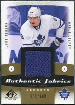 2010/11 Upper Deck SP Game Used Authentic Fabrics Gold #AFLS Luke Schenn 70/100