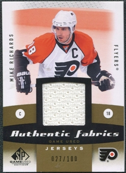 2010/11 Upper Deck SP Game Used Authentic Fabrics Gold #AFMR Mike Richards /100