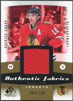 2010/11 Upper Deck SP Game Used Authentic Fabrics Gold #AFSH Patrick Sharp /100