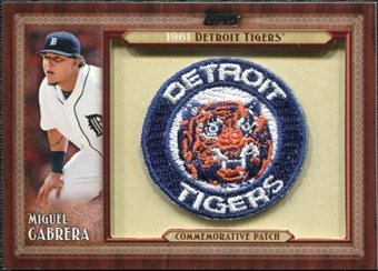 2011 Topps Commemorative Patch #MC Miguel Cabrera