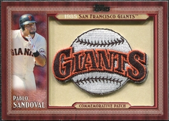 2011 Topps Commemorative Patch #PS Pablo Sandoval