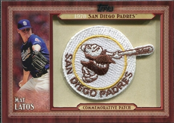 2011 Topps Commemorative Patch #ML Mat Latos S2