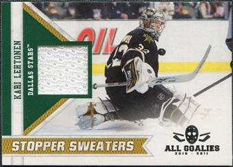 2010/11 Panini All Goalies Stopper Sweaters #9 Kari Lehtonen