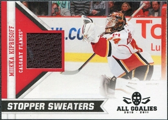 2010/11 Panini All Goalies Stopper Sweaters #18 Miikka Kiprusoff