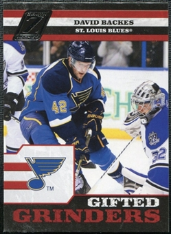 2010/11 Panini Zenith Gifted Grinders #8 David Backes