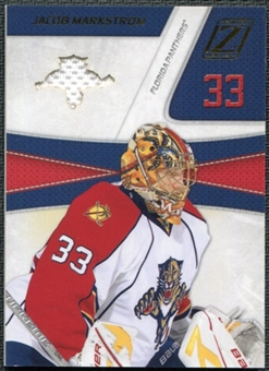 2010/11 Panini Zenith Team Logo Die-Cut Jerseys JM Jacob Markstrom