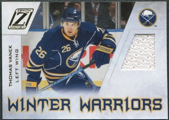2010/11 Panini Zenith Winter Warriors Materials #TV Thomas Vanek