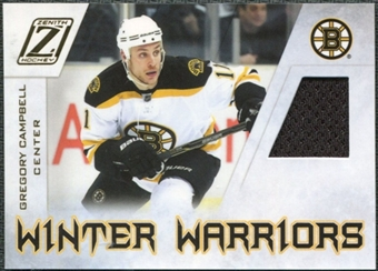2010/11 Panini Zenith Winter Warriors Materials #GC Gregory Campbell