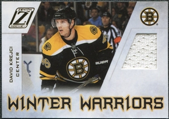 2010/11 Panini Zenith Winter Warriors Materials #DK David Krejci