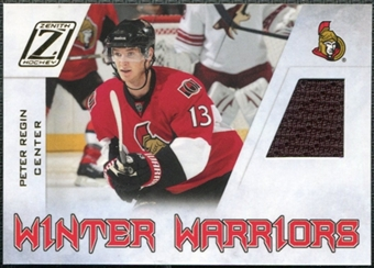 2010/11 Panini Zenith Winter Warriors Materials #PR Peter Regin