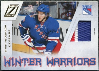 2010/11 Panini Zenith Winter Warriors Materials Prime #RM Ryan McDonagh /50
