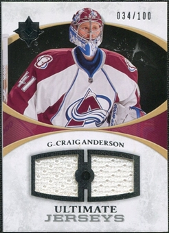 2010/11 Upper Deck Ultimate Collection Ultimate Jerseys #UJCA Craig Anderson /100