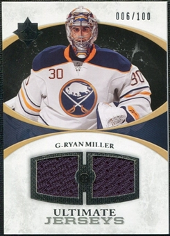 2010/11 Upper Deck Ultimate Collection Ultimate Jerseys #UJRM Ryan Miller /100