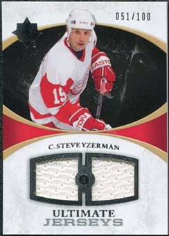 2010/11 Upper Deck Ultimate Collection Ultimate Jerseys #UJSY Steve Yzerman /100