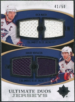 2010/11 Upper Deck Ultimate Collection Ultimate Jerseys Duos #UDJNV Rick Nash Jakub Voracek /50