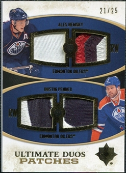 2010/11 Upper Deck Ultimate Collection Ultimate Patches Duos #UDJHP Dustin Penner Ales Hemsky /25