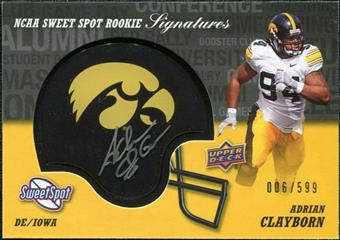2011 Upper Deck Sweet Spot Rookie Signatures #RSAC Adrian Clayborn Autograph /599