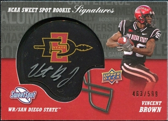 2011 Upper Deck Sweet Spot Rookie Signatures #RSVB Vincent Brown Autograph /599