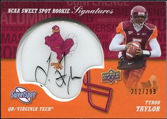 2011 Upper Deck Sweet Spot Rookie Signatures Variations #RSTA Tyrod Taylor Autograph /299