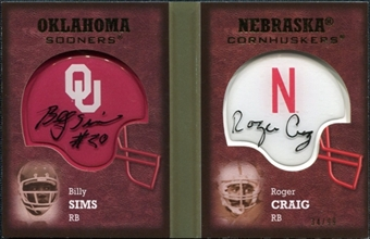 2011 Upper Deck Sweet Spot Rivalries Dual Autographs #RCS Billy Sims/Roger Craig Autograph /99