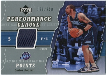 2005/06 Upper Deck Performance Clause Jerseys #BO Carlos Boozer /250