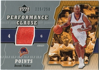 2005/06 Upper Deck Performance Clause Jerseys #DF Derek Fisher /250