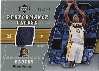 2005/06 Upper Deck Performance Clause Jerseys #DG Danny Granger /250