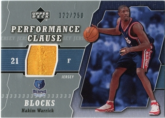 2005/06 Upper Deck Performance Clause Jerseys #HW Hakim Warrick /250