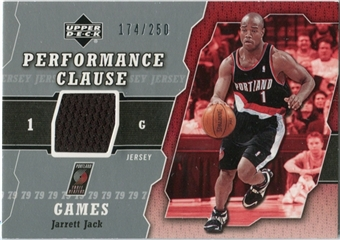 2005/06 Upper Deck Performance Clause Jerseys #JJ Jarrett Jack /250