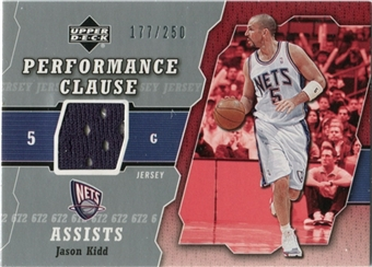 2005/06 Upper Deck Performance Clause Jerseys #JK Jason Kidd /250