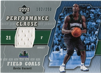 2005/06 Upper Deck Performance Clause Jerseys #KG5 Kevin Garnett /250