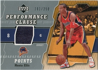 2005/06 Upper Deck Performance Clause Jerseys #ME Monta Ellis /250