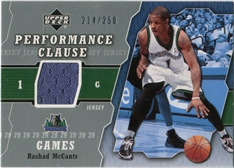 2005/06 Upper Deck Performance Clause Jerseys #RM Rashad McCants /250