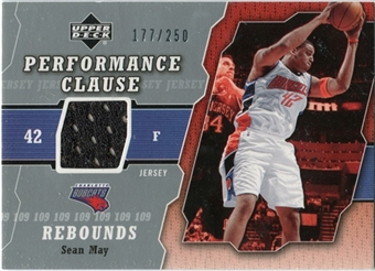 2005/06 Upper Deck Performance Clause Jerseys #SM Sean May /250