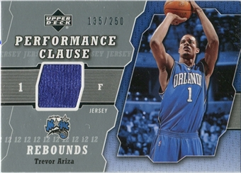 2005/06 Upper Deck Performance Clause Jerseys #TR Trevor Ariza /250