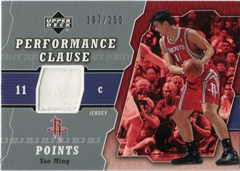 2005/06 Upper Deck Performance Clause Jerseys #YM Yao Ming /250