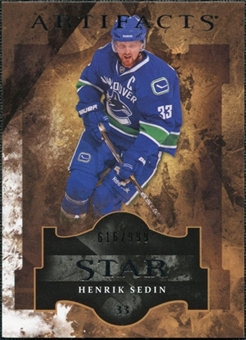2011/12 Upper Deck Artifacts #124 Henrik Sedin Star /999