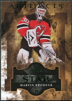 2011/12 Upper Deck Artifacts Emerald #138 Martin Brodeur Star /99