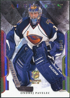 2011/12 Upper Deck Artifacts Spectrum #86 Ondrej Pavelec /25