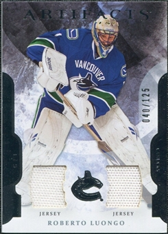 2011/12 Upper Deck Artifacts Jerseys #1 Roberto Luongo /125