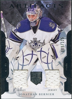 2011/12 Upper Deck Artifacts Jerseys #45 Jonathan Bernier /125