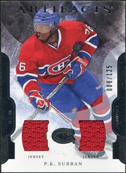 2011/12 Upper Deck Artifacts Jerseys #76 P.K. Subban /125