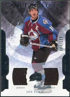 2011/12 Upper Deck Artifacts Jerseys #100 Joe Sakic /125