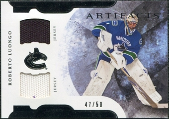 2011/12 Upper Deck Artifacts Horizontal Jerseys #1 Roberto Luongo /50