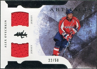 2011/12 Upper Deck Artifacts Horizontal Jerseys #8 Alexander Ovechkin /50